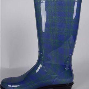 UGG Shaye Plaid Rain boots, Women's SZ 10